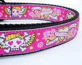The Beotch - Dog Collar / Pet Accessories / Handmade / Adjustable / Tattoo / Pink