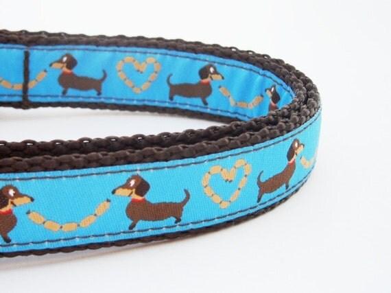 Longback Love in Blue- Dog Collar / Handmade / Pet Accessories / Adjustable