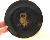 Reserved for KBird 70s Vintage Couroc Bowl OWL Wise Ol' Owl