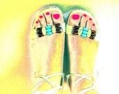 Desert Stones 80s Unisa Ankle Wrap Cork Wedge Sandals 8.5