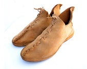 Vintage Indian Moccasin Hand Sewn Mens 8.5 M to 9 M Woodland Robin Hood EUR 42