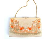 All that Glitters 80s Gold Lame Lamé Evening Purse