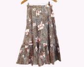 70s Boho Hippie Cowgirl Ruffled Skirt Homemade Lovely size XS S