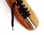 Vintage Bowling Shoes Tri Tone Butterscotch and Brown size 5