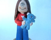 Stand by your Bear Vintage 1980s CATHY Guisewite comic strip ceramic figurine