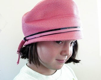 Go Go in Strawberry Pink 1960s Hat Girls Teens or Woman S