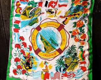 Rock of Gibraltar Large Souvenir Scarf 33 by 30