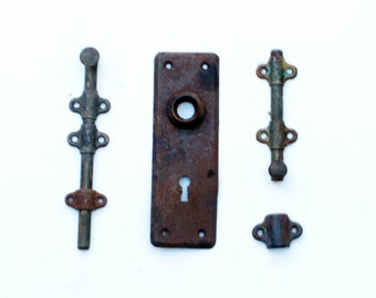 Architectural Salvage Door Hardware Rustic