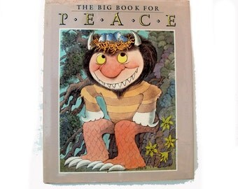 The Big Book for Peace 1990 First Edition HC with DJ Maurice Sendak