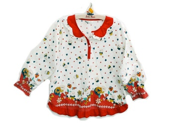 70s Cotton Top Womens XS Small Little Girl Sweetness