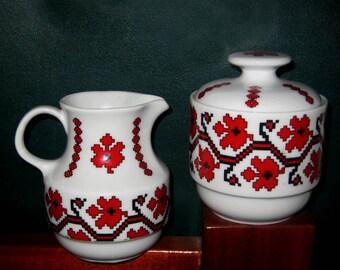 Vintage Tea Set Bareuther Creamer Sugar Bowl set pattern 4732 51