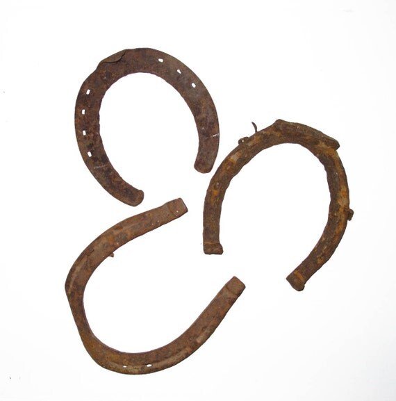 Rustic Horseshoes set of three