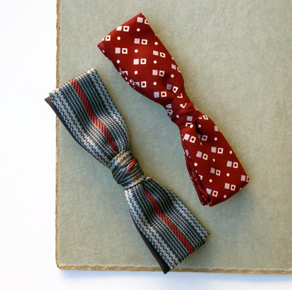My Dapper Gent Vintage Clip On Bow ties 2 pc
