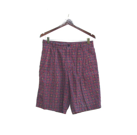 80s Mens Pleated Shorts size 33 Cotton 32 inch waist