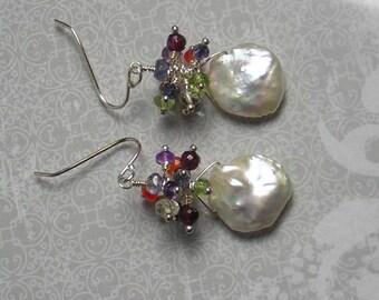 Keishi Pearl Cluster Earrings (132)