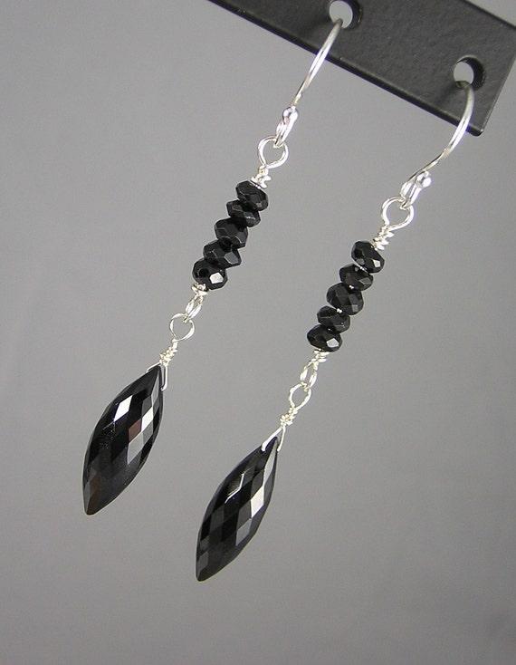 Black Spinel Earrings (131)