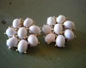 Vintage Snowflake Clip On Earrings