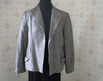 SALE Vintage Donegal Handwoven Tweed Irish Wool Blazer, Size 10 USA, 38 EUR