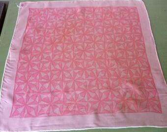 Vintage Sheer Pink Burmel Scarf