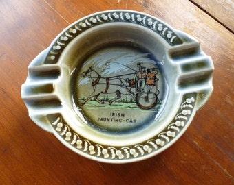 SALE Vintage Wade Co. Irish Porcelain Ashtray, Irish Jaunting Car