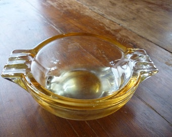 Vintage Opalescent Peach Glass Ashtray