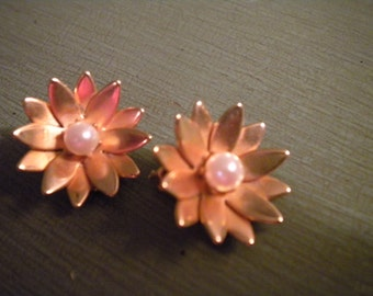Vintage Daisy Clip Earrings