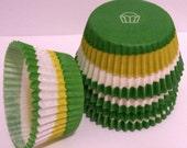 Green Swirl Cupcake Liners- Choose Set 50 or 100