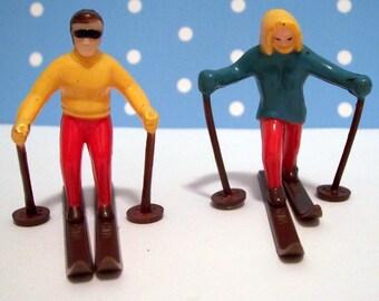 Skiiers Cupcake Toppers