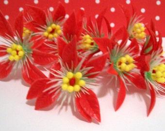 12 Poinsettia Picks