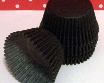 Black Cupcake Liners- Choose: Set of 50 or 100