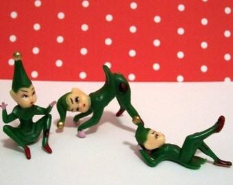 Green Pixie Elves, Set of 3