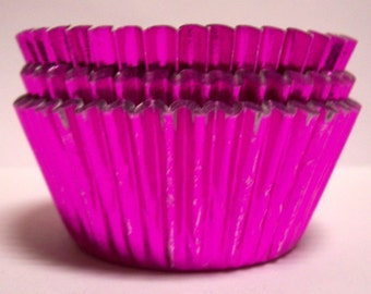 Pink Foil Standard Size Cupcake Liners- Choose Set of 50 or 100