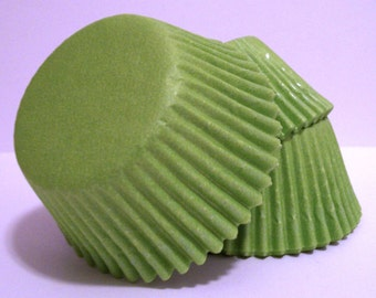 Lime Cupcake Liners- Choose Set of 50 or 100