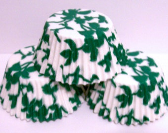 Green Ivy Cupcake Liners- Choose Set of 50 or 100
