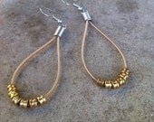 Recycled Guitar Strings - Restored Guitar String Teardrop Earrings - Bronze