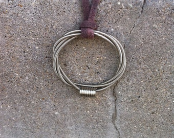 Recycled Bass Strings - Restored Bass String Infinite Circles Pendant