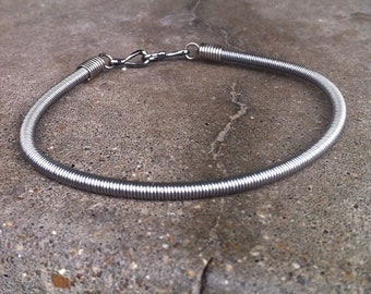 Recycled Bass Strings - Restored Bass String Super CHUNKY Men's Bracelet