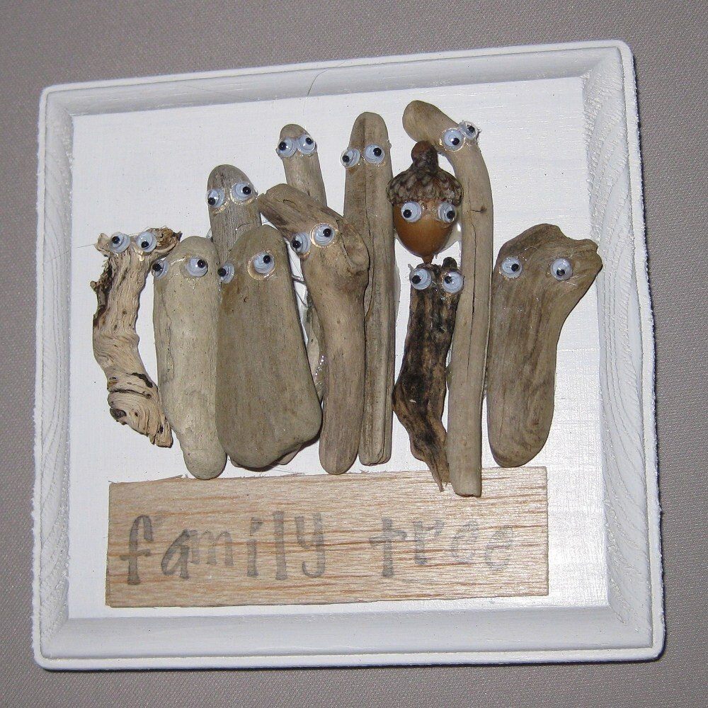 15 Driftwood Crafts: Driftwood Craft/Art Family Tree By OffTheBeach On Etsy
