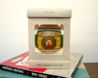 Vintage Hallmark Christmas Ornament 1978 - New Home - In Original Box - Collectible Ornament