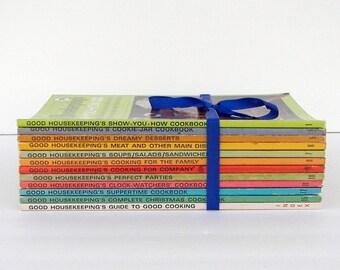 Good Housekeeping Cookbooks - 14 Vintage Paperback Cookbooks - 1967, 1971