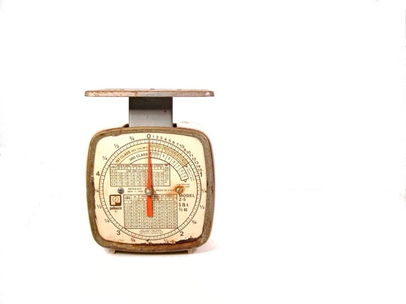 Vintage Pelouze Postal Scale - 1981 - Industrial Home Decor - Weigh Your Packages