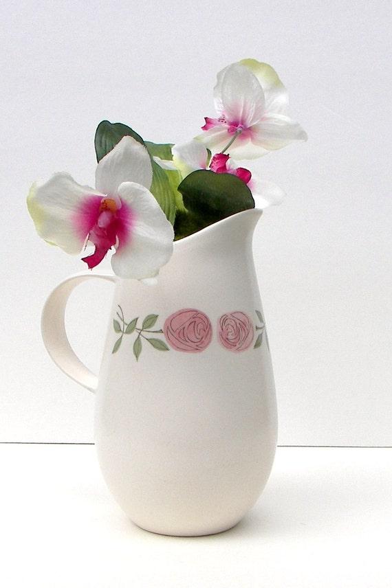Vernonware Rose a Day Pitcher - VINTAGE - Vernonware Vase - Tall Pitcher