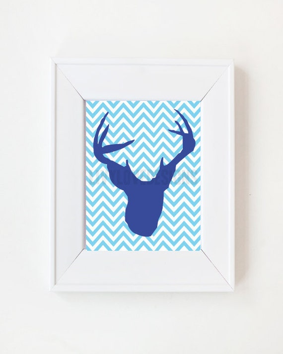 11x17 Deer Silhouette Taxidermy print