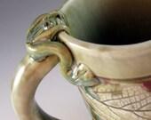 Ceramic Porcelain Mug / Botanical Leaf / Coffee Mug / Tea Cup / 214