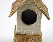 Birdhouse /  Ceramic Bird House / Sale / Cottage Style / 644