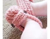 22 Colors Available, Baby Loafer Booties, Crochet Baby Loafers