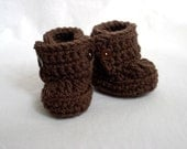 21 Colors Available, Baby Bootie Boots, Crochet Baby Booties
