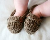 ANNIVERSARY SALE Baby Booties, Baby Loafers, Baby Loafer Booties, Crochet baby booties