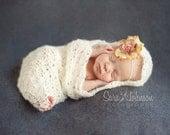 Baby Cocoon, Newborn Photo Prop, Crochet Baby Cocoon, Baby Lace Prop