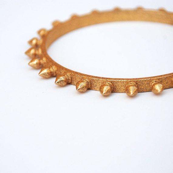 SALE Gold Spike Stud Bangle Bracelet